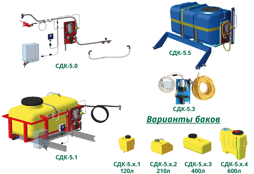 Оборудование для внесения консервантов для кормоуборочных комбайнов Ремком
